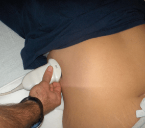 sonography sensor position for fast exam